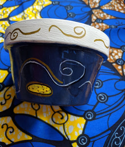 Ankara Print Flower Pot