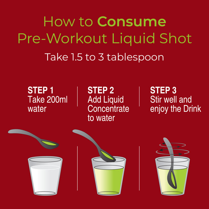 Pre-Workout Liquid Shots - Nutrabox India