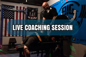 In Person Coaching Experience (Live Cues, Bench Belt, Wearing Slingshot, Wrist Wraps)