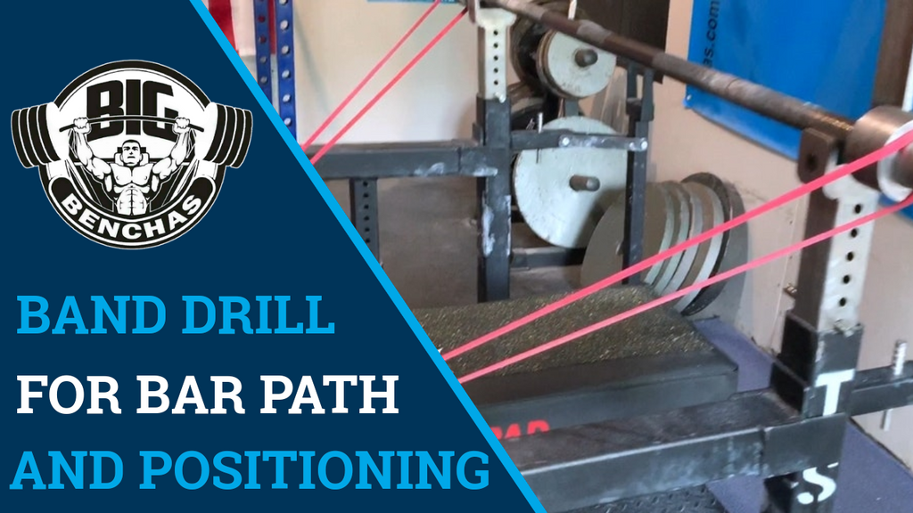 Bench Press Band Drill For Bar Path and Positioning