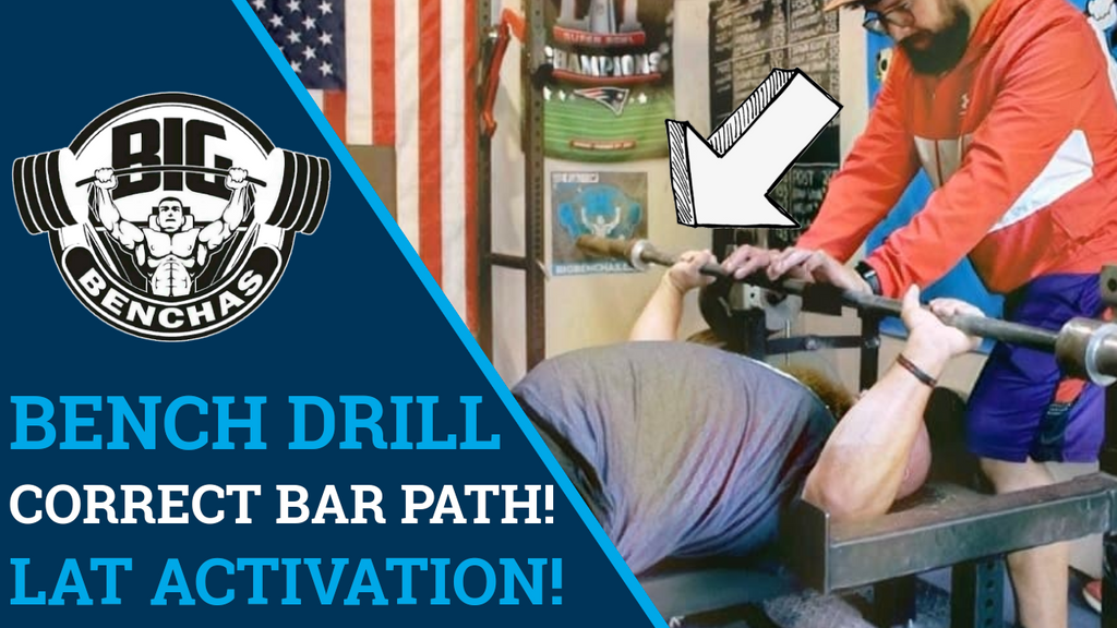 Powerlifting Bench Press Activation Drill For CORRECT Bar Path And Lat Activation!
