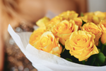 Yellow Roses Bouquet Offered to Classy Woman
