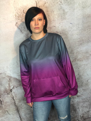 Purple Ombre Pullover