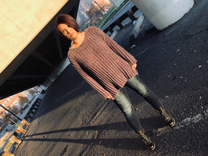 High Low Chenille Sweater