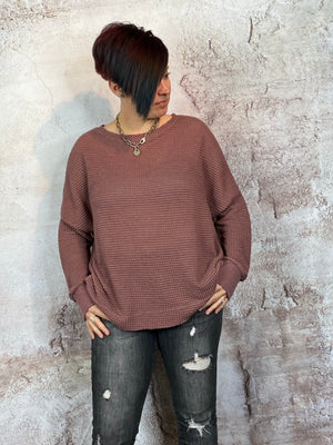 Thermal Knit Pullover Top