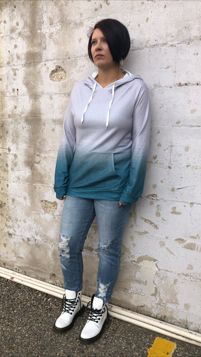 Teal Ombre Hoodie