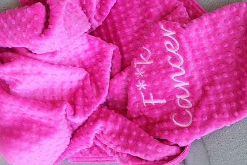 F Cancer Awareness Adult Size Blanket