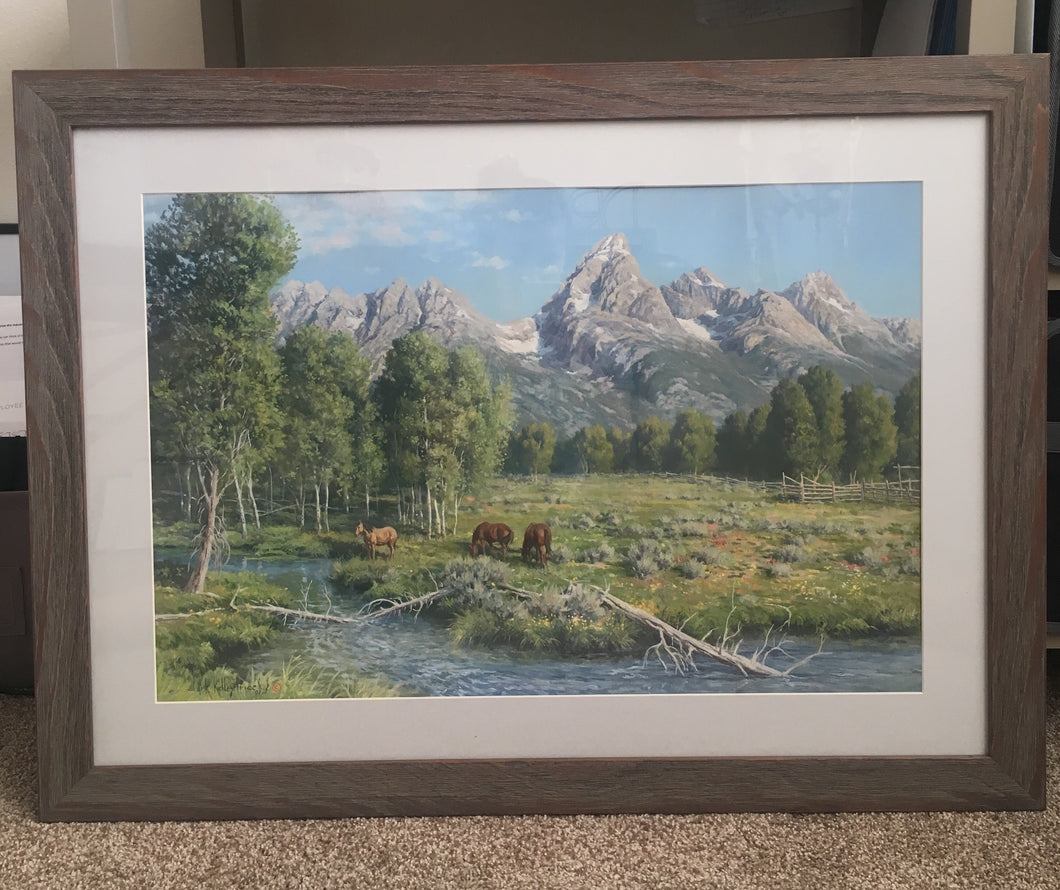 Peace in the Valley - Reclaimed Barnwood Frame
