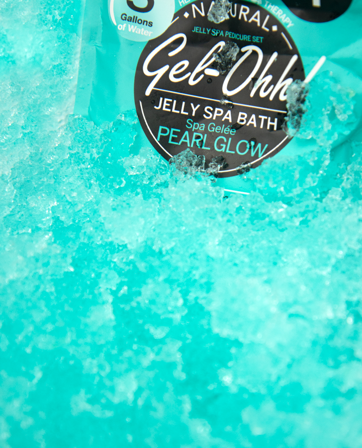 The Pearl Glow Gel-Ohh Jelly Pedicure from AvryBeauty