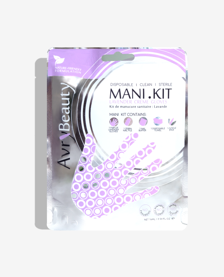 A pack of Mani Kit Lavender from AvryBeauty
