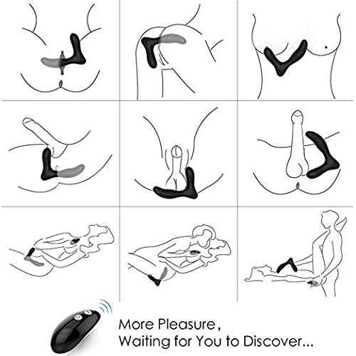 Vibrating Prostate Massager with 2 Powerful Motors and 10 Stimulation Patterns Wireless Remote