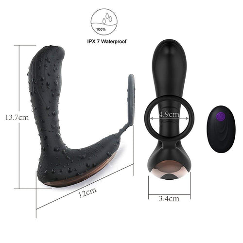 Electric Prostate Massager with with Multiple Speed and Patterns
