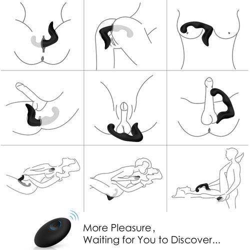 9 Speeds Prostate Massager Rechargeable G Spot Vibrator Waterproof
