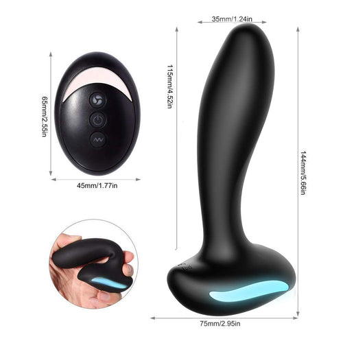 Male Prostate Massager Vibrating Anal Sex Toys with 9 Vibration Modes