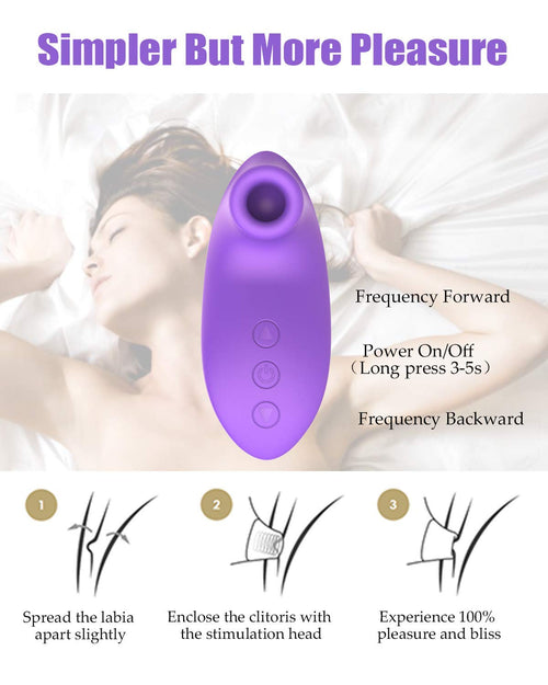Clitoral Sucking Vibrator with 10 Suction & Vibration Modes for Women Clit Orgasm