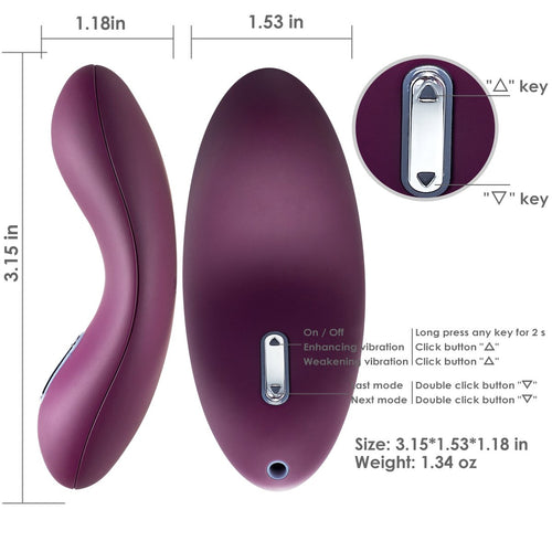 Mini Egg Clitoris Vibrator Adult Sex Toy Clitoral Vibes Massager Stimulation