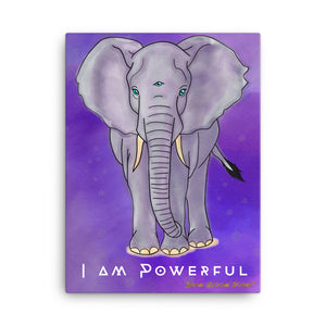 "Elephant - I am Powerful 18""x24"" Canvas"
