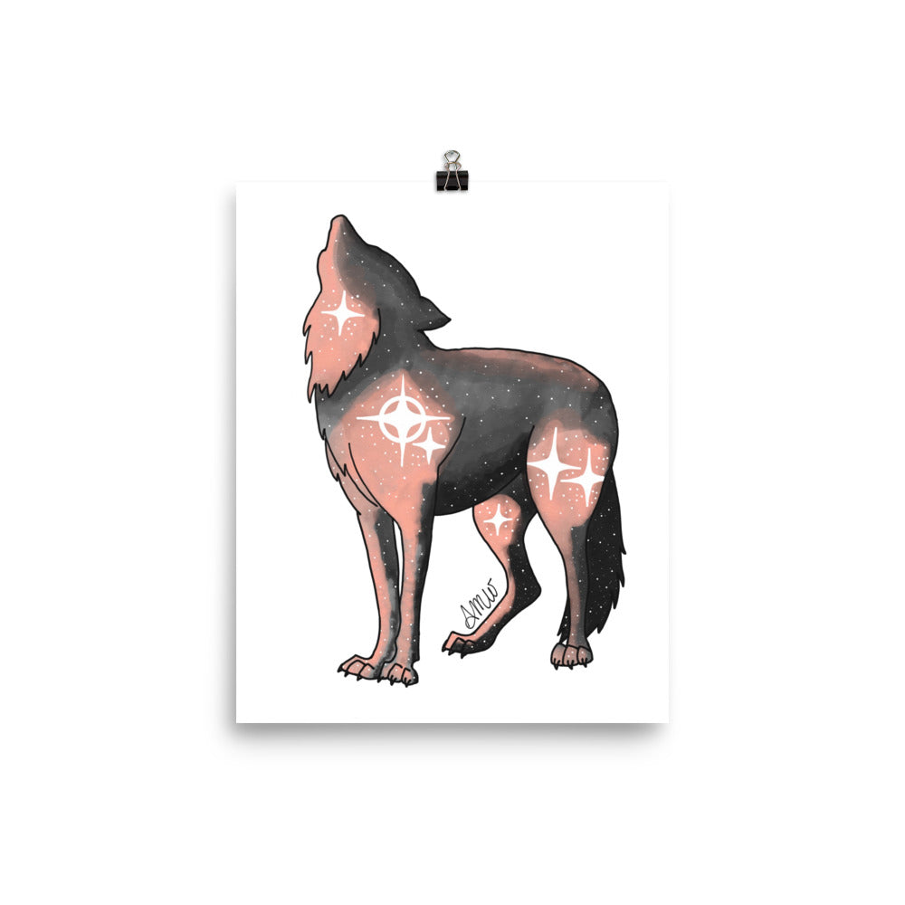 Galaxy Wolf Intention Poster - Physical