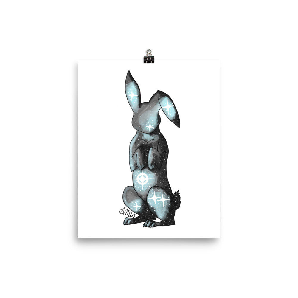 Galaxy Rabbit Intentions Poster - Physical