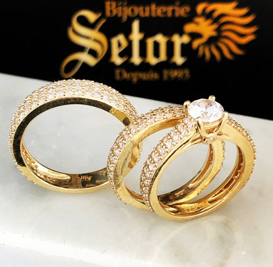 Trio wedding rings ZWR014 - Bijouterie Setor