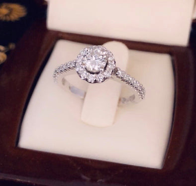 Bella diamond engagement ring DER-33 - Bijouterie Setor