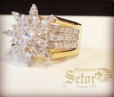 Star diamond ring DER39 - Bijouterie Setor