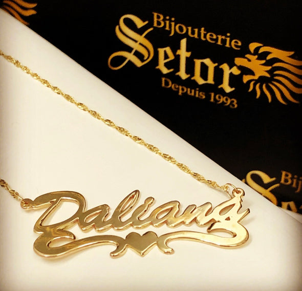 Daliana name necklace NC25 - Bijouterie Setor