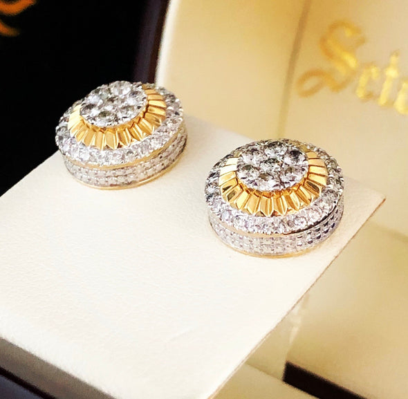 Bailey diamond stud earrings DE8 - Bijouterie Setor