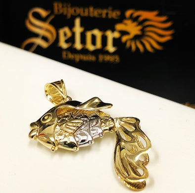 Gold fish pendant with movable tail - Bijouterie Setor