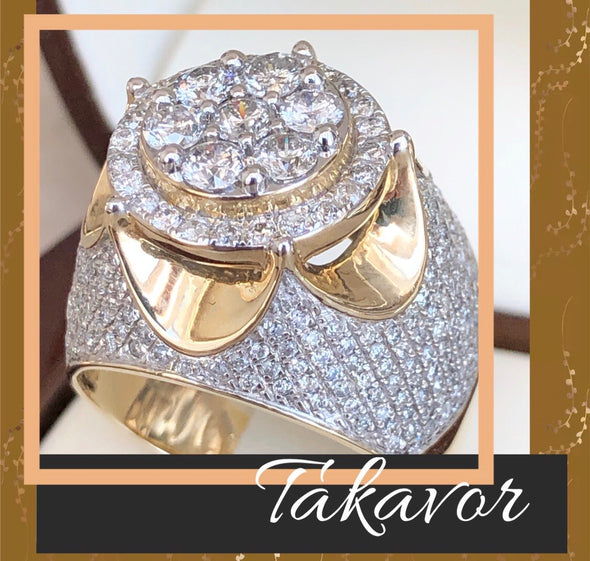 Takavor men's diamond ring MDR9 - Bijouterie Setor