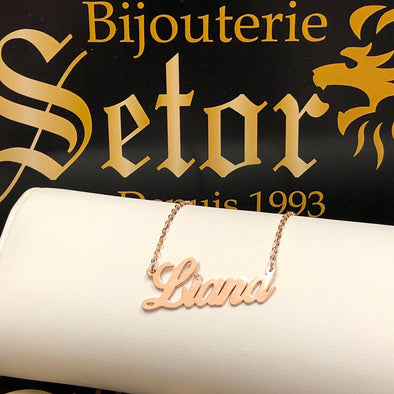 Liana gold necklace PN17 - Bijouterie Setor