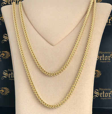 5mm High polished Franco chain MC021 - Bijouterie Setor