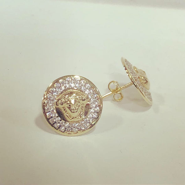 Zia gold stud earrings E21 - Bijouterie Setor