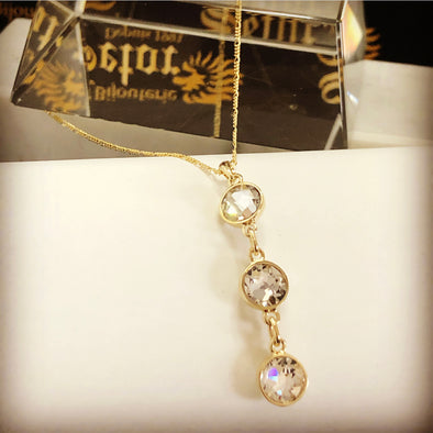Crystal drop necklace - Bijouterie Setor