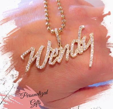 Wendy gold name necklace WC - Bijouterie Setor