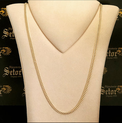 3.5MM  Cuban link chain MC091 - Bijouterie Setor