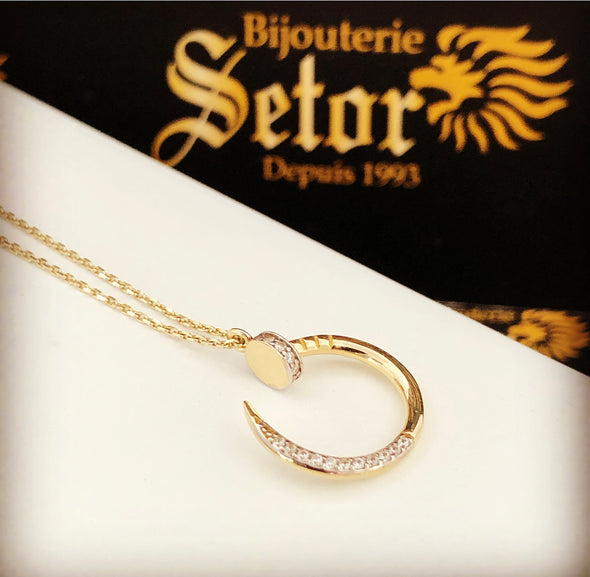 Nail necklace WC119 - Bijouterie Setor
