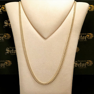 4MM Cuban link chain MC090 - Bijouterie Setor