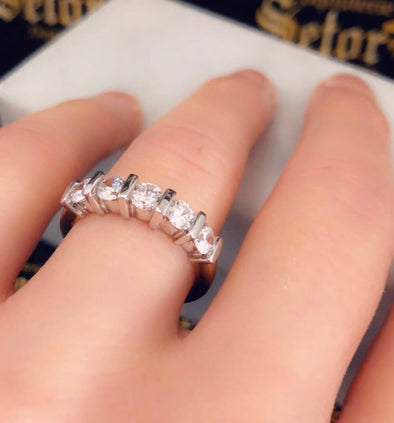 Jane semi eternity ring WB037 - Bijouterie Setor
