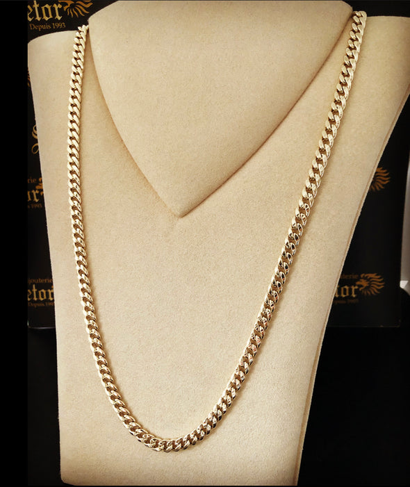 5mm Cuban link chain MC-42 - Bijouterie Setor