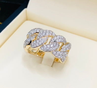 Diamond Cuban link ring MDR010 - Bijouterie Setor