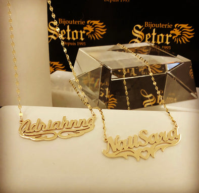 Name necklace NP033 - Bijouterie Setor