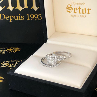Belle diamond rings DWR21 - Bijouterie Setor