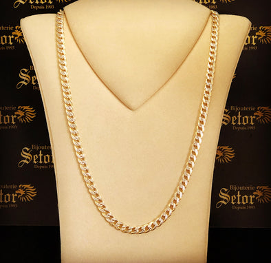 6.5MM double sided Cuban link chain MC089 - Bijouterie Setor