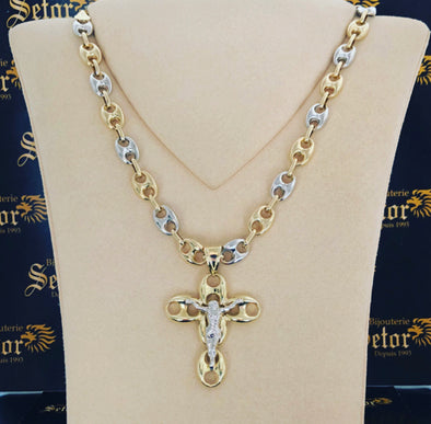 Mariners chain & cross S33 - Bijouterie Setor