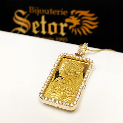 Lady Fortuna Gold bar with diamonds - Bijouterie Setor
