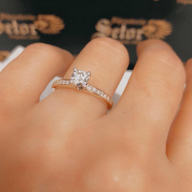 Aurelia diamond engagement ring - Bijouterie Setor