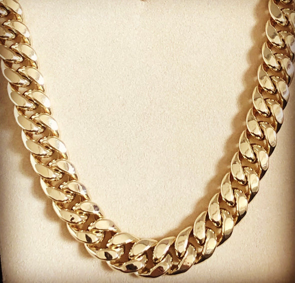 15MM Cuban link chain MC077 - Bijouterie Setor