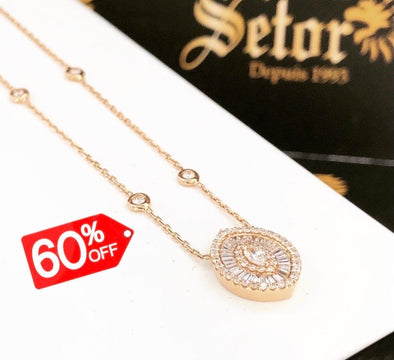 Vicky Rose gold diamond necklace DN021 - Bijouterie Setor