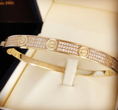 Love connection bangle bracelet WB048 - Bijouterie Setor